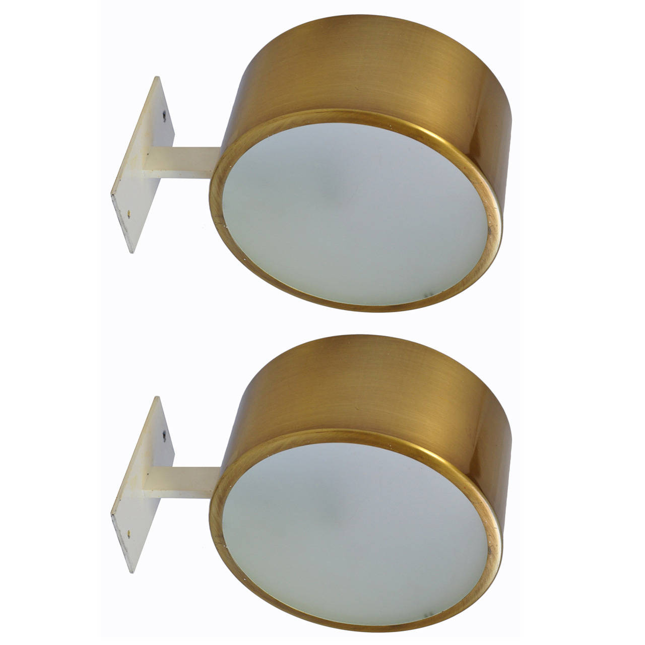 Pair of Brass and Glass Appliques by Hans-Agne Jakobsson Image