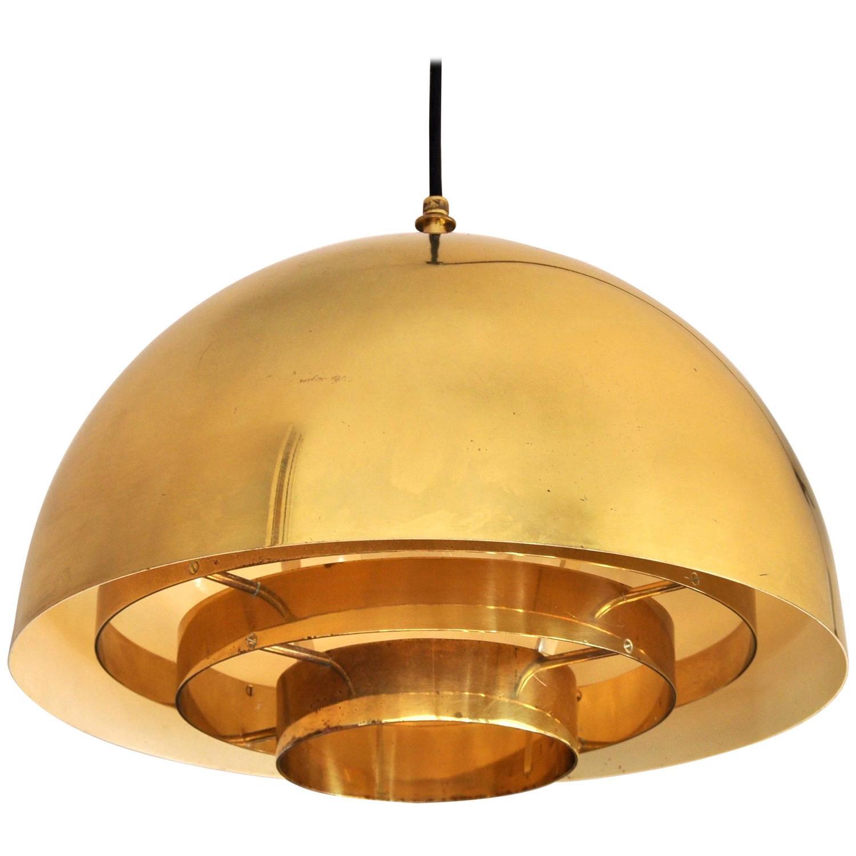 Brass Pendant Lamp by Vereinigte Werkstatten Munchen, 1960s Image