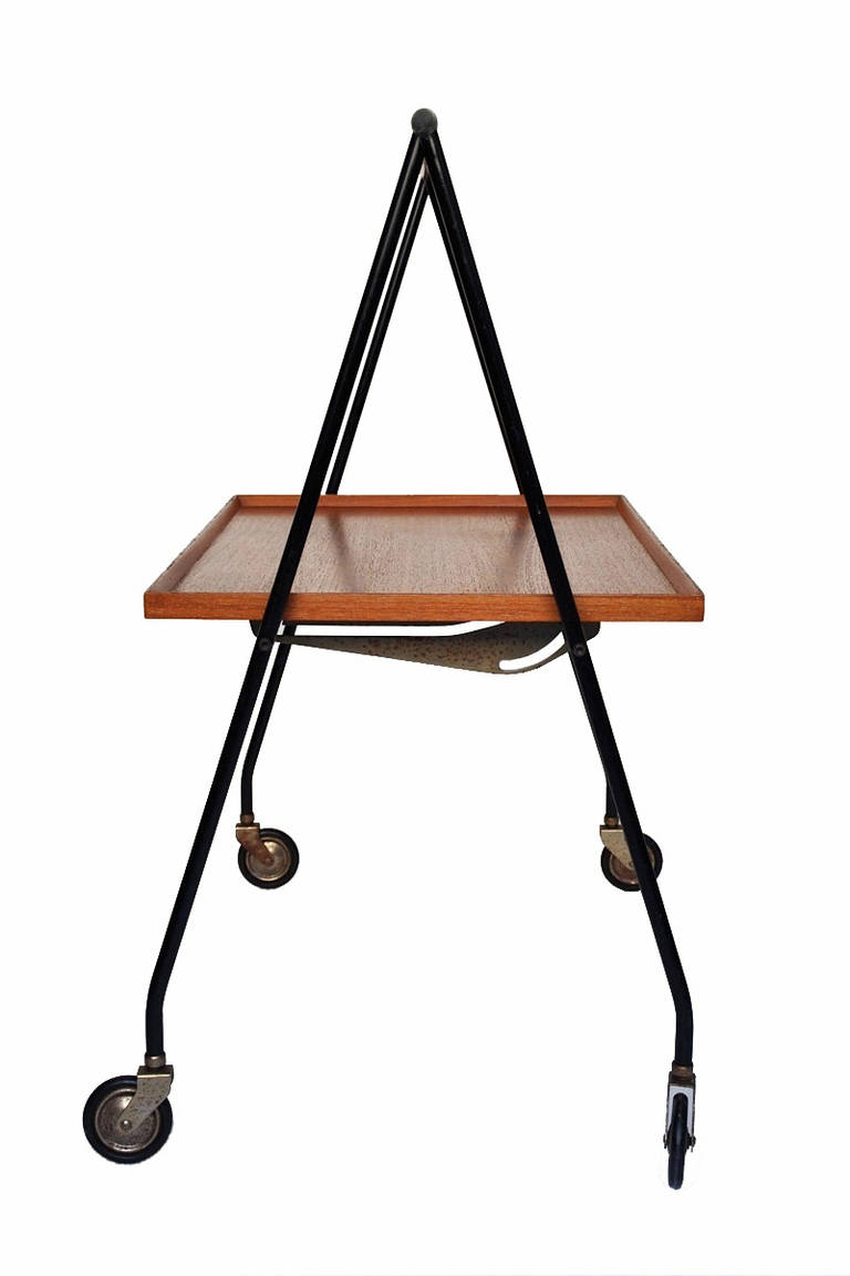 Collapsible Teak Trolley, Demark 1960s Image
