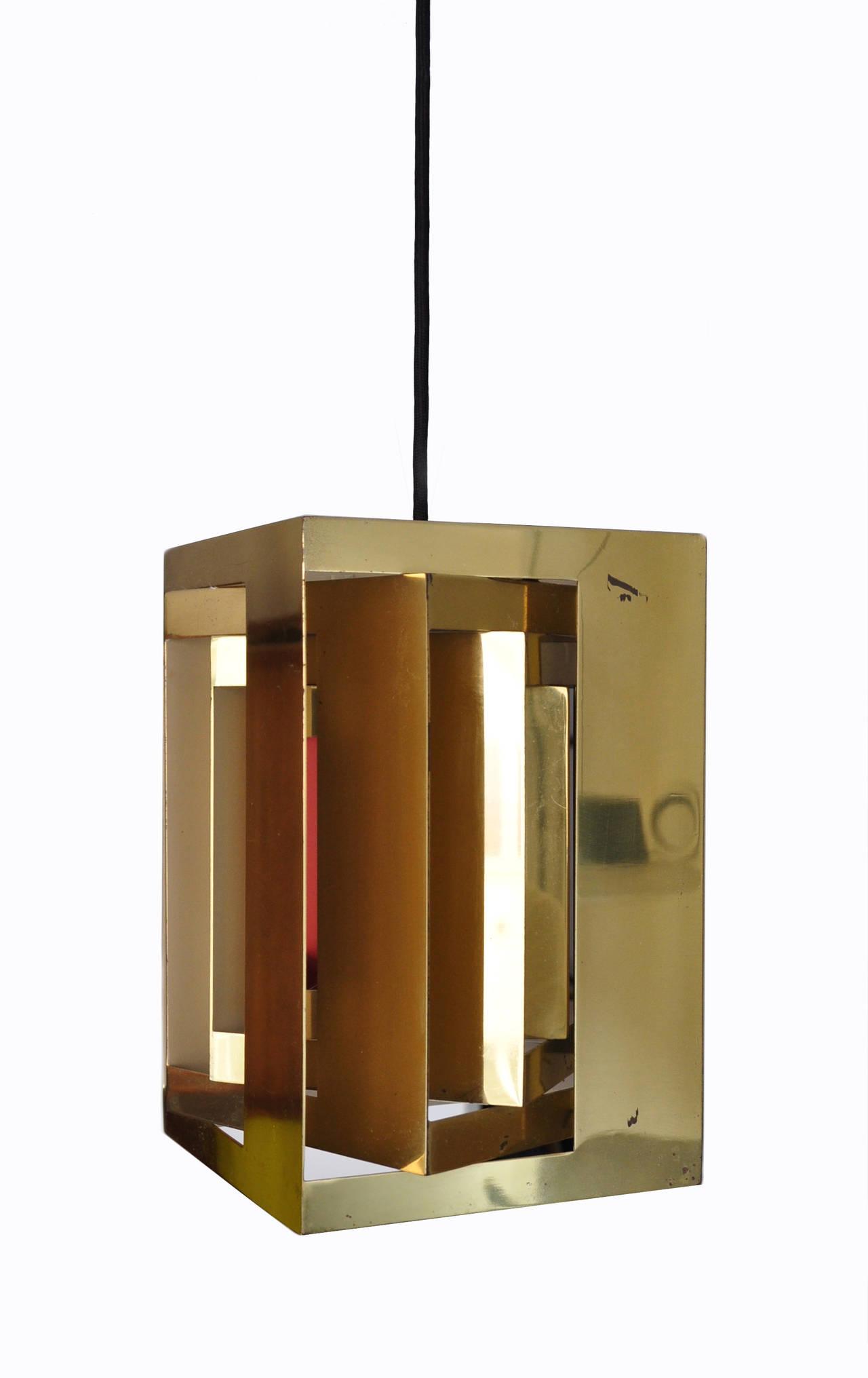 Simon Henningsen Cube Pendant Lamp, Denmark 1960s Image
