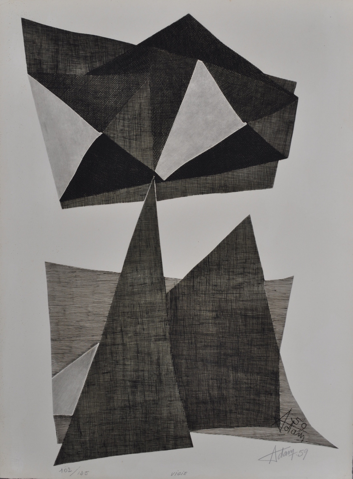 Kinetic Etching by Agam Yaacov Image