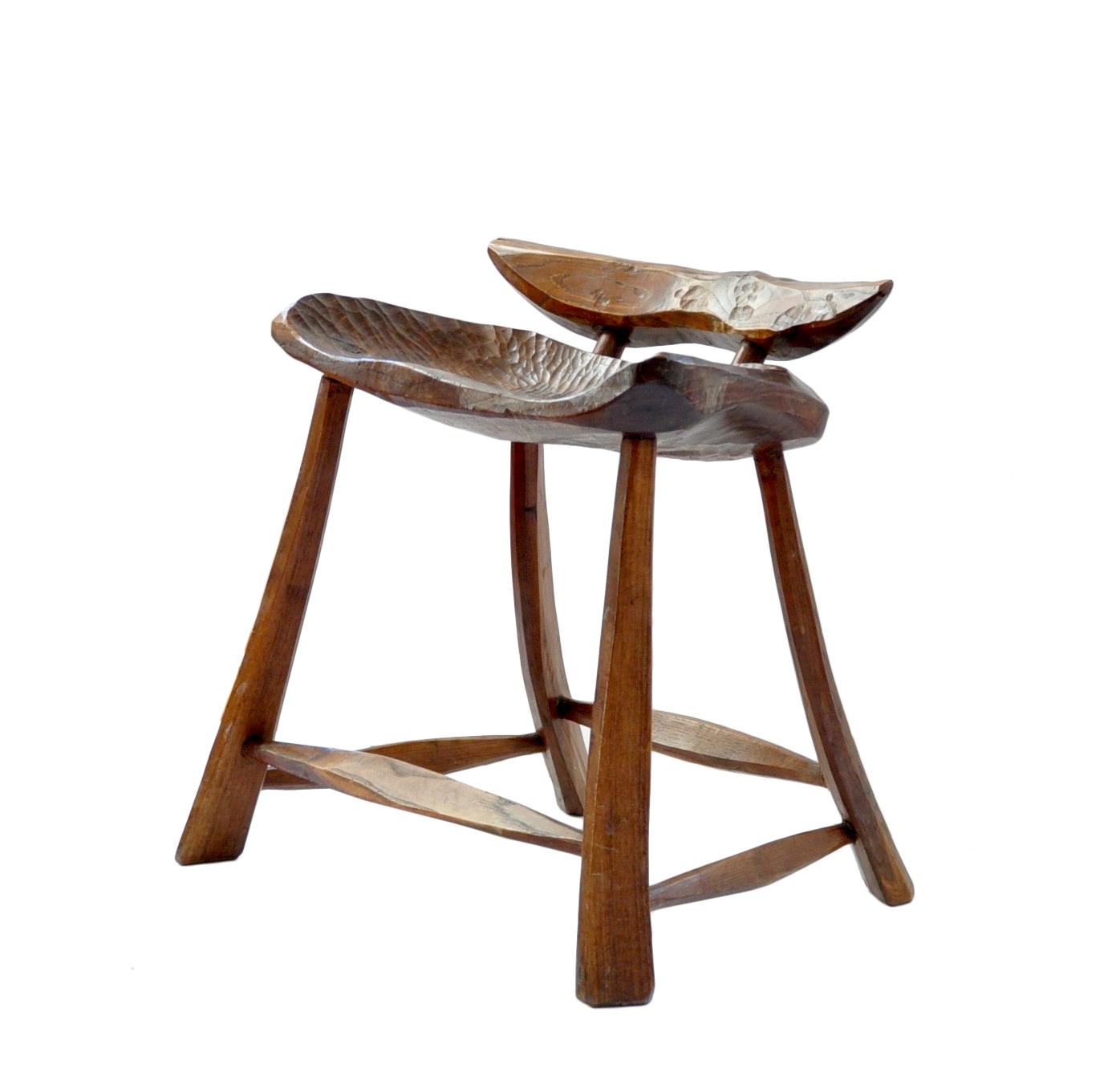 Carved Stool From The Meraggia Workshop Image
