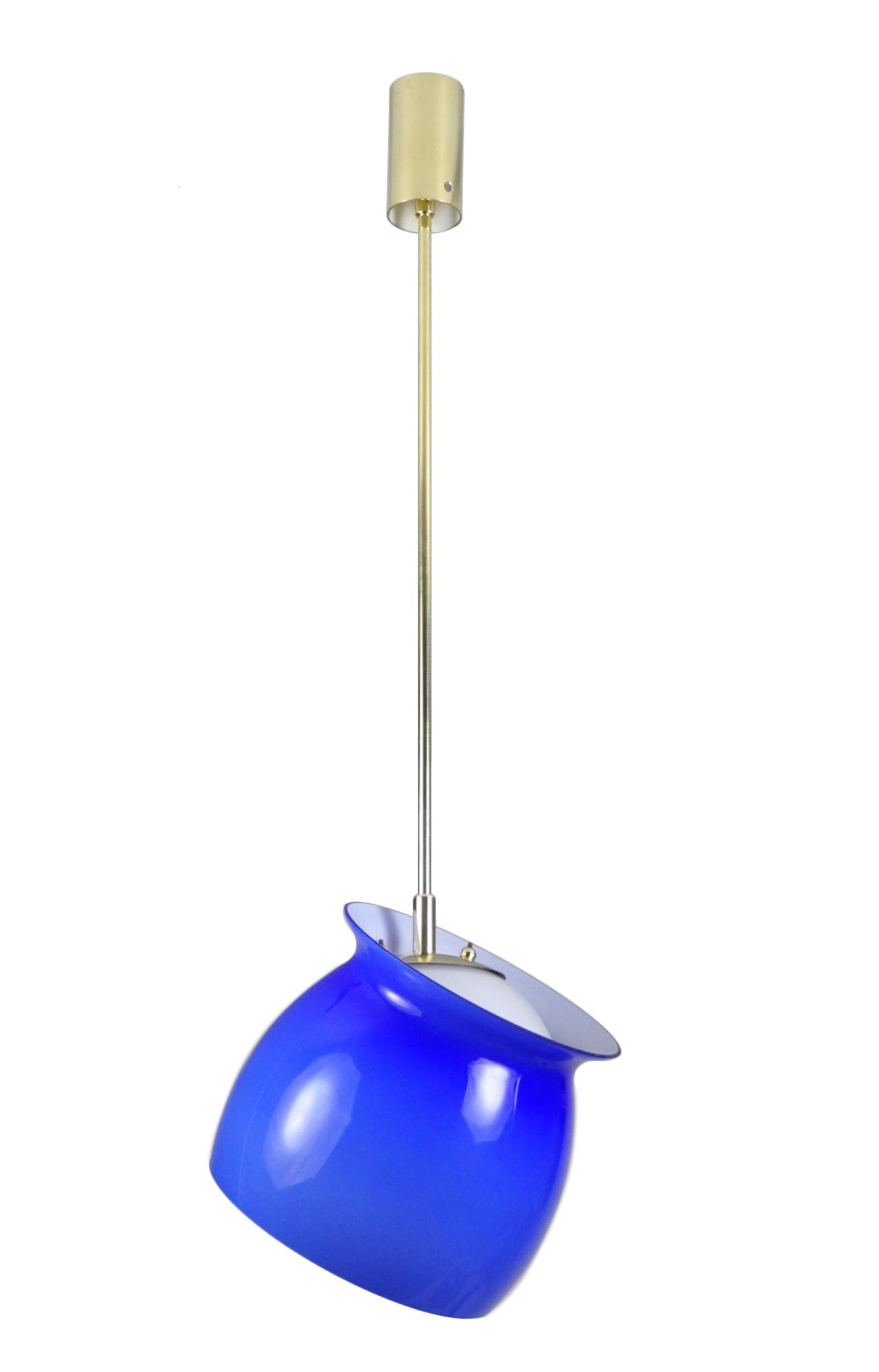 Blue Venini Pivot Pendant Lamp Image