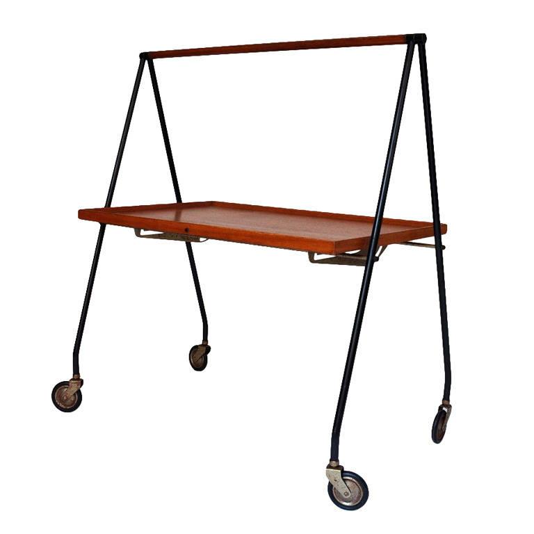 Collapsible Bar Cart, Denmark 1960s Image