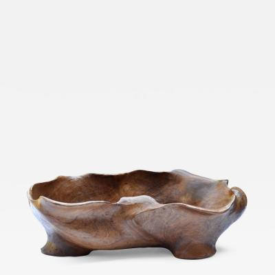 Carved Walnut Dish, Switzerland Image