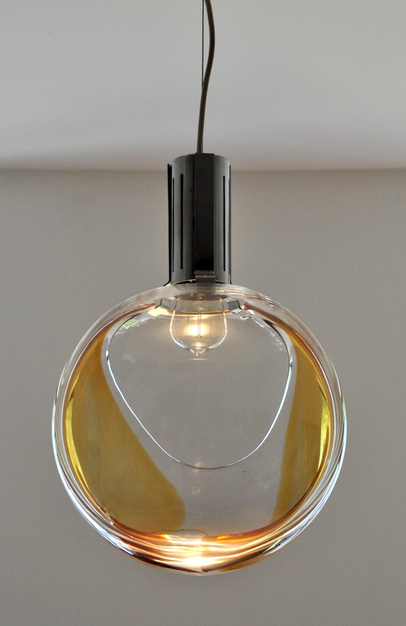 Toni Zuccheri pendant lamps, Italy, 1970s Image