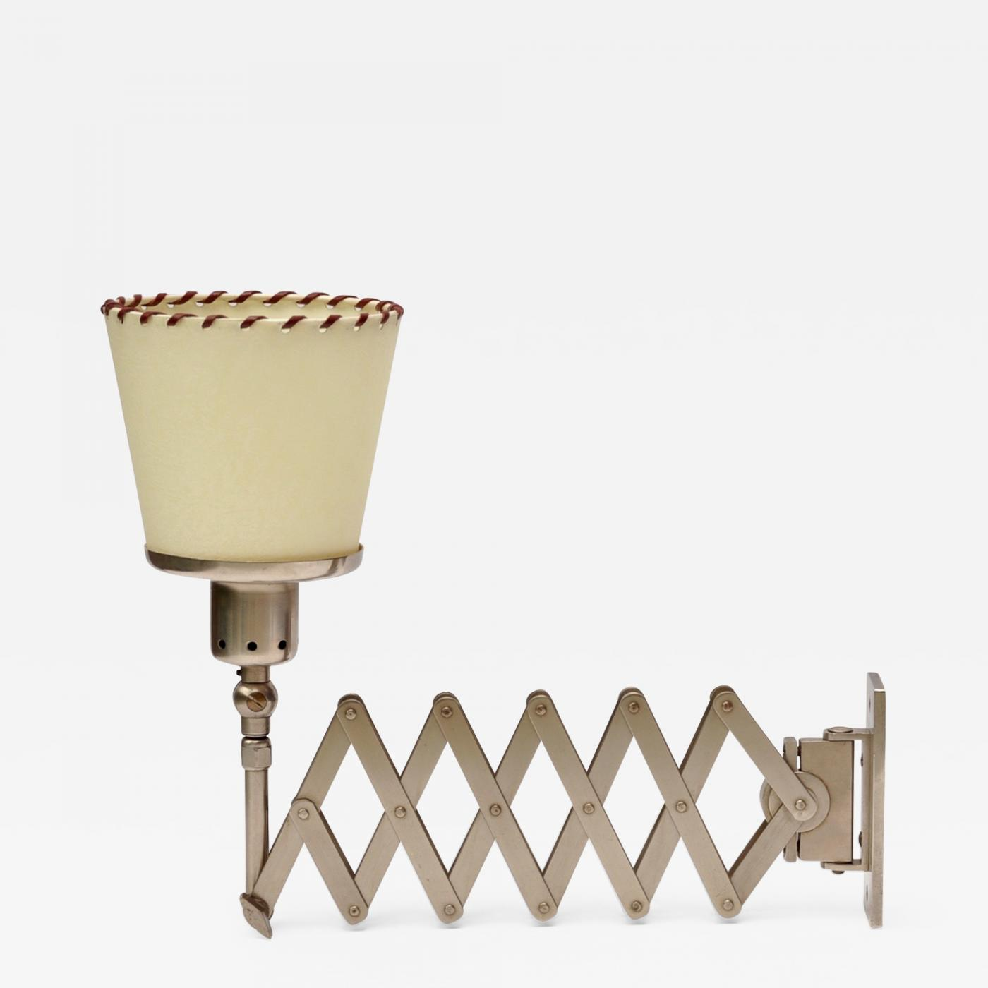 Accordion Wall Lamp Alfred Muller, Basel Switerland 1940s Image