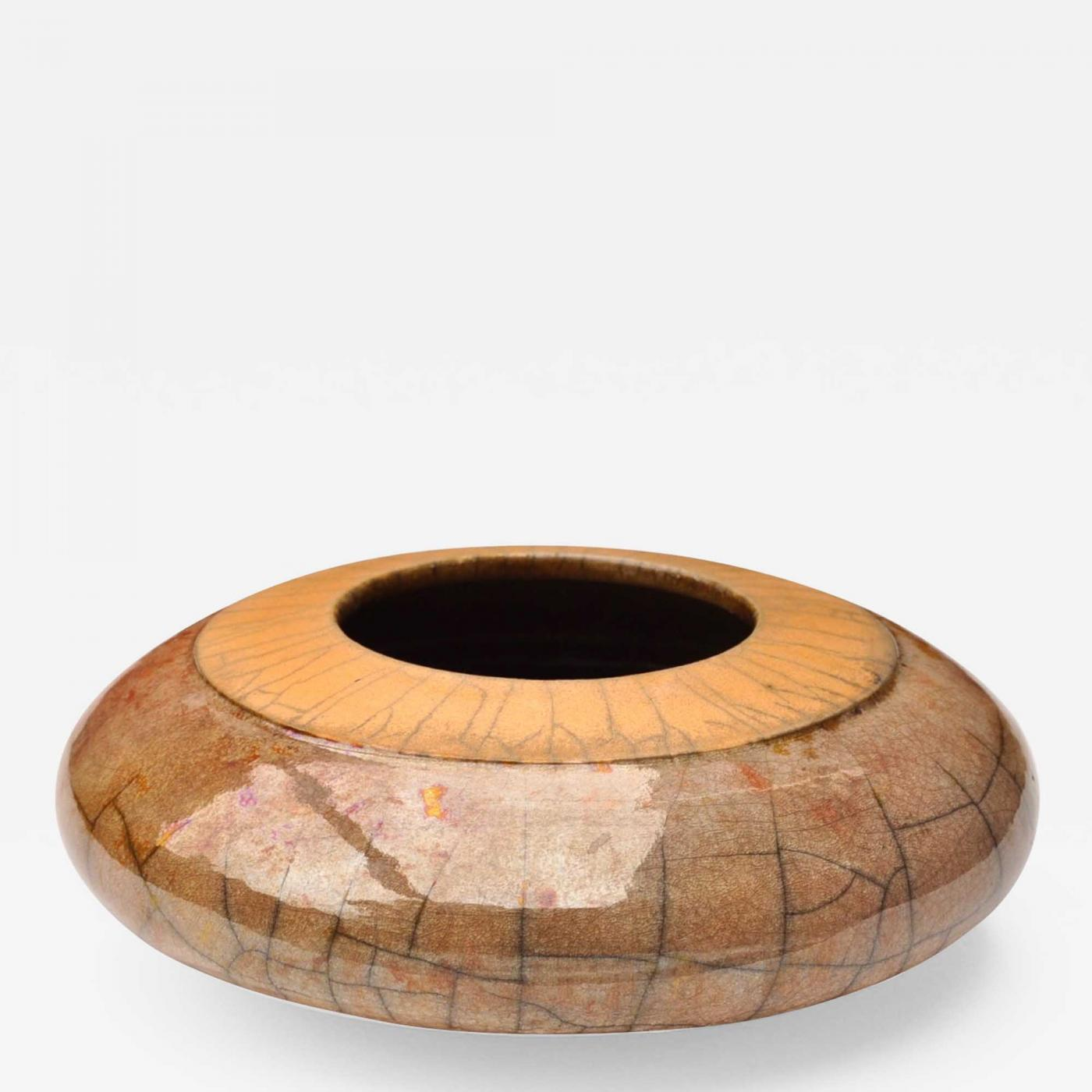 Raku Style Vase, Europe 20th c Image