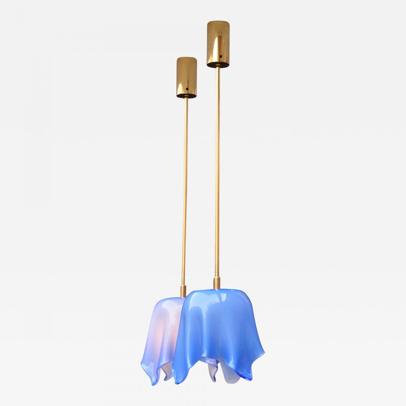 Pair of Studio Venini Pendant Lamps, Italy 1960s Image